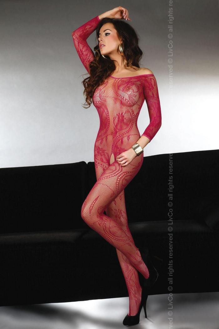 Бодістокінг еротичний Livia Corsetti Abra maroon