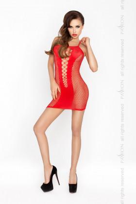 Платье-сетка Passion BS 027 красное
