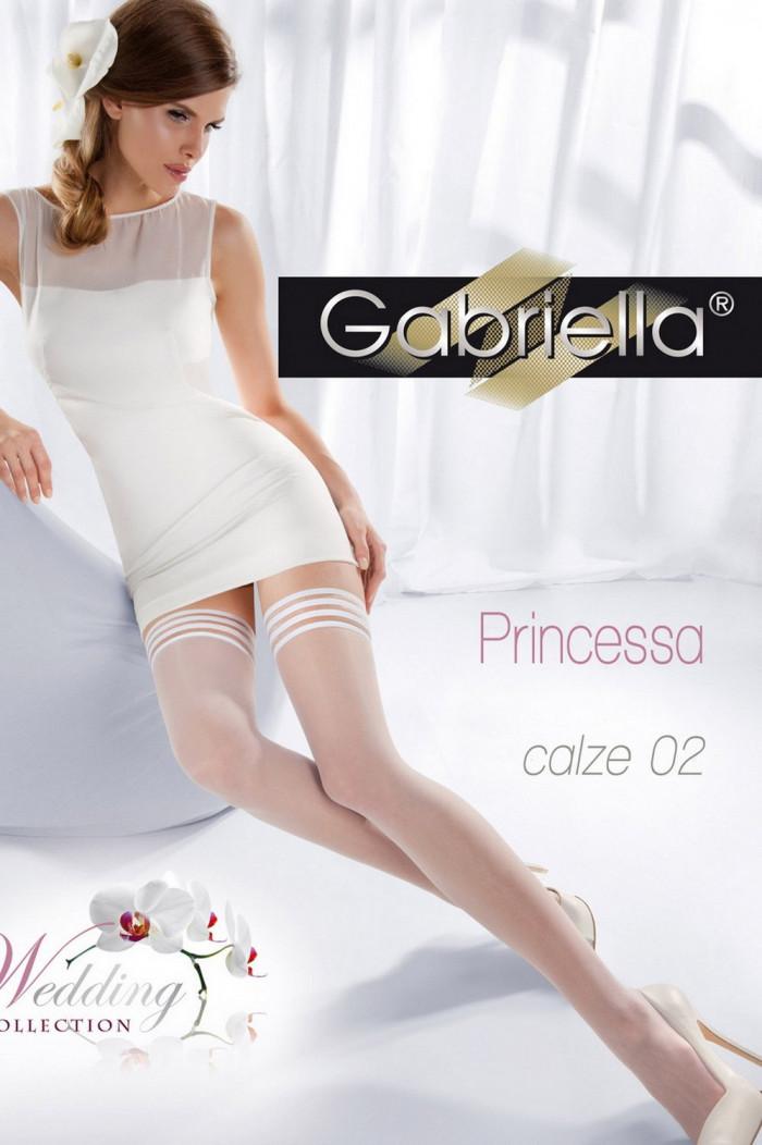 Чулки свадебные Gabriella Princessa 02 15 den LUX