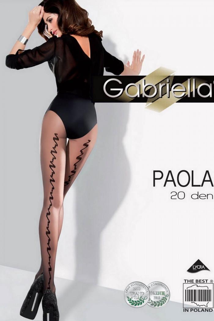 Колготки з вертикальним візерунком Gabriella Paola 20 den