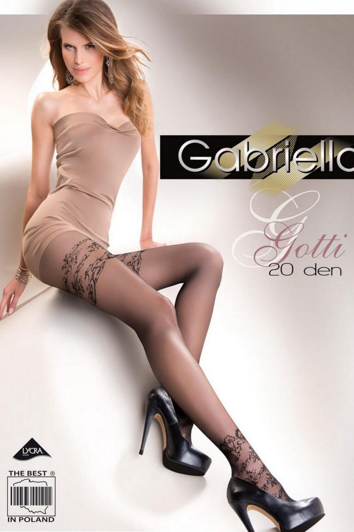 Колготки с цветочным узором Gabriella Gotti 20 den