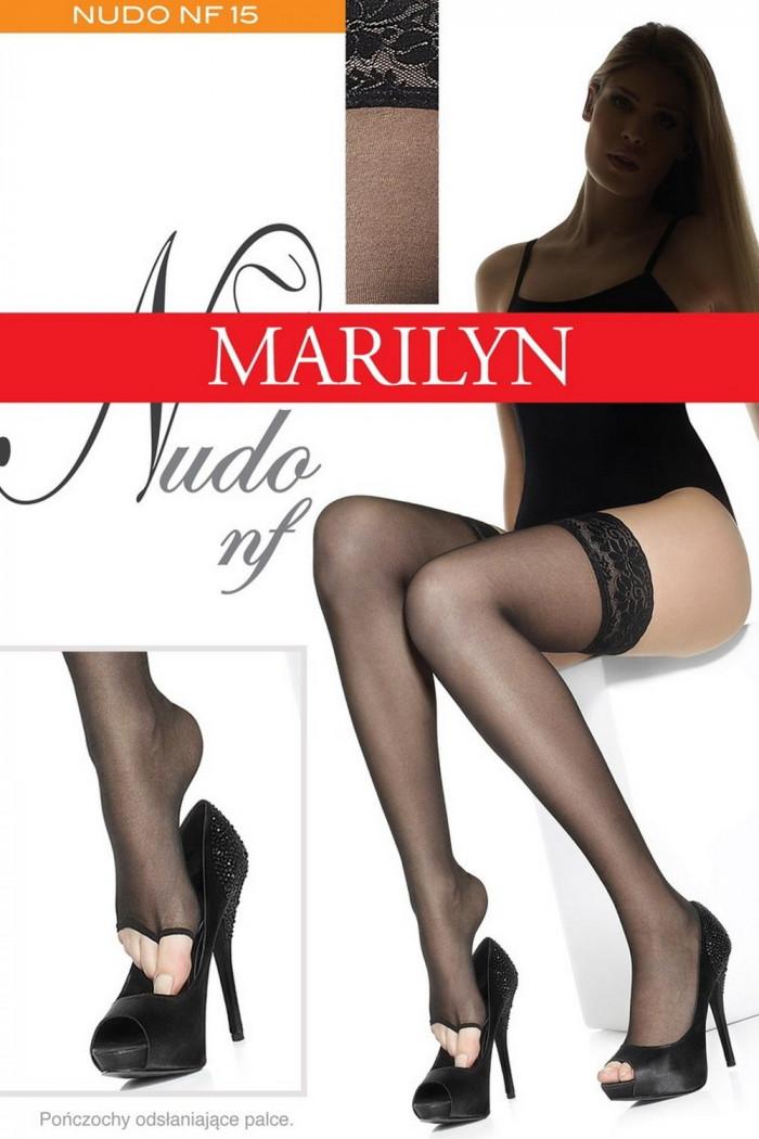 Панчохи з відкритим носком Marilyn Nudo NF 15 den