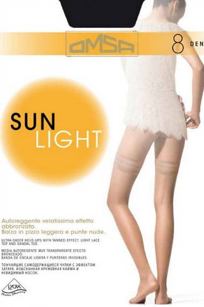 Чулки тонкие Omsa Sun Light 8 den