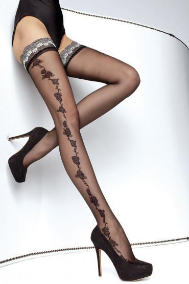 Фото Чулки с узором из роз Fiore Marea 20d
