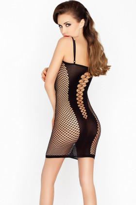 Платье-сетка Passion BS 027 черное