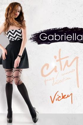 Колготки с имитацией гольфов на шнуровке Gabriella Vicky 20 den
