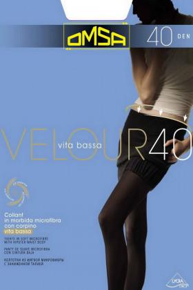 Omsa Velour 40 Vita Bassa