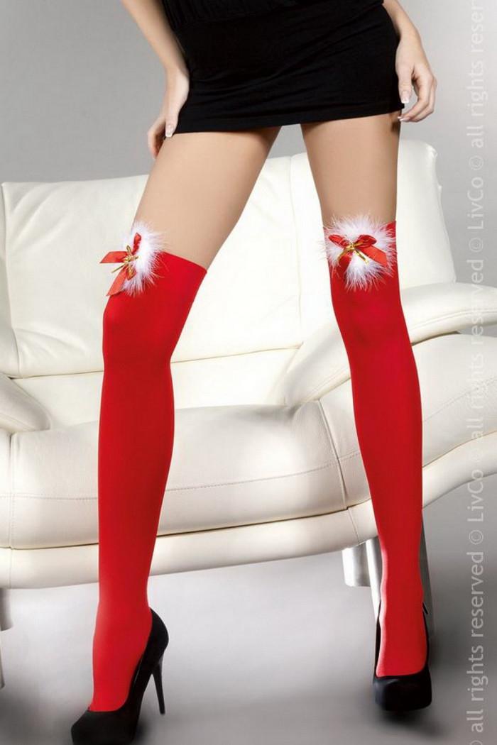 Чулки рождественские красные Livia Corsetti Cilla