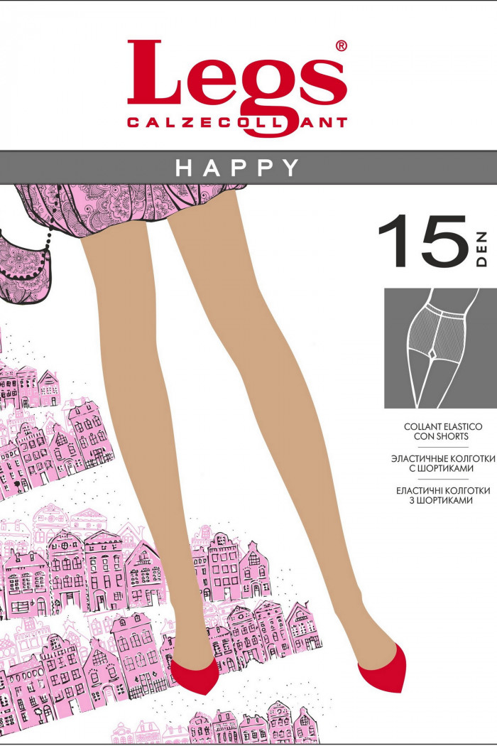 Классические тонкие колготки Legs 100 HAPPY 15d