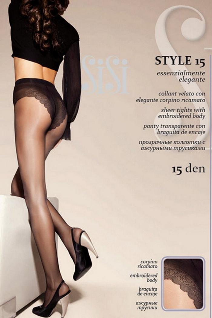 Колготки з ажурними трусиками SiSi Style 15