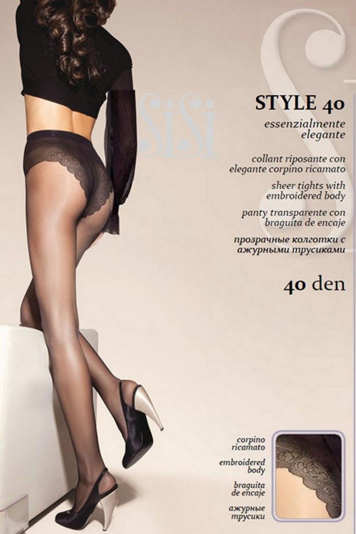 Колготки с ажурными трусиками SiSi Style 40