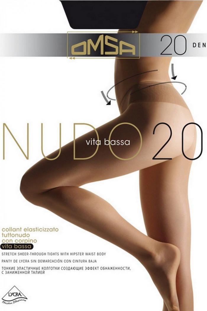 Колготки с низкой талией Omsa Nudo Vita Bassa 20