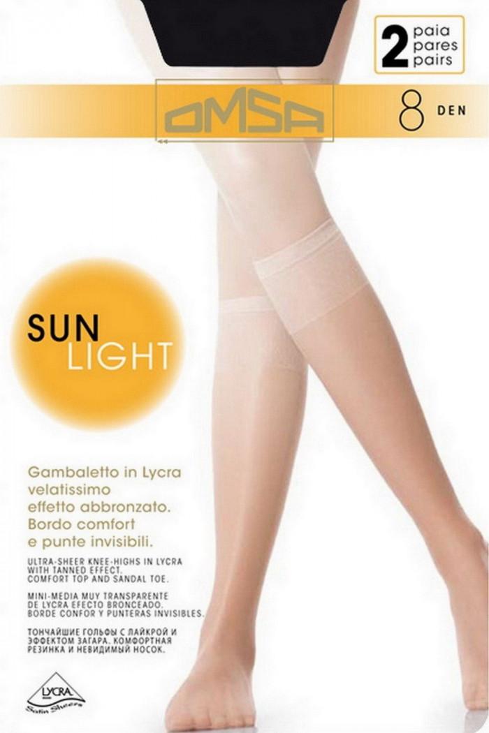 Гольфи Omsa Sun Light 8 den (2 пари)