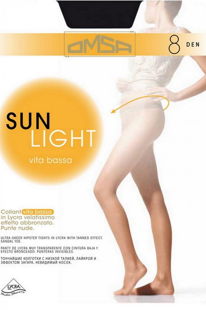 Колготки с низкой талией Omsa Sun Light 8d Vita Bassa