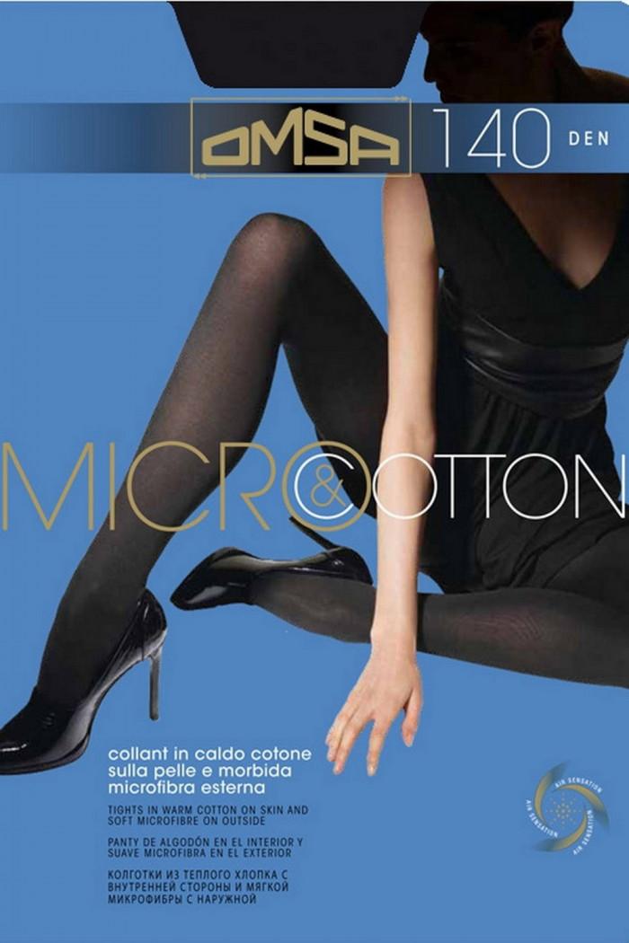 Колготки теплые Omsa Micro&Cotton 140d