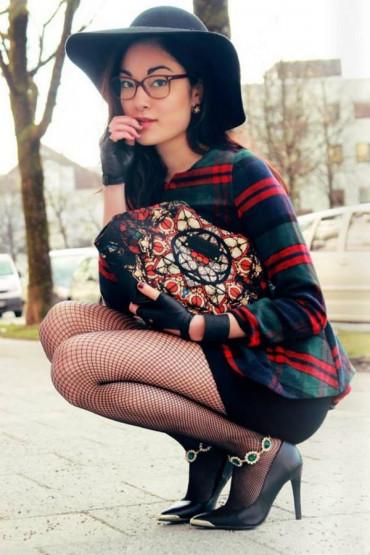 Фото Колготки в среднюю сетку Fiore Greta