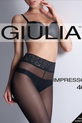 Колготки с кружевным поясом GIULIA Impresso 40d
