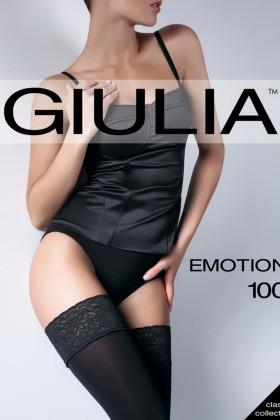Плотные чулки из микрофибры 3D Giulia Emotion 100d