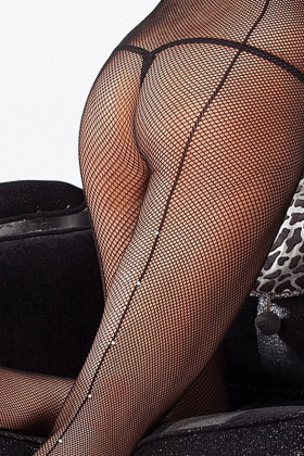 Колготки сетка со швом Marilyn Charly 672