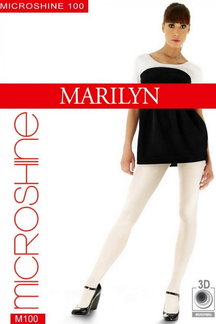 Колготки с блеском Marilyn MicroShine 100