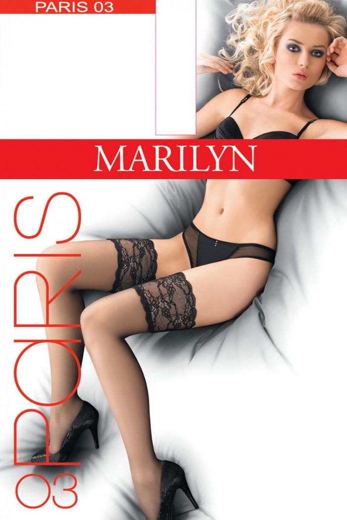 Чулки с кружевной коронкой Marilyn Paris 03