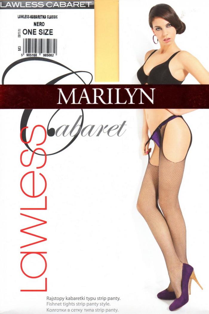 Панчохи-сітка з поясом Marilyn Lawless Cabaret