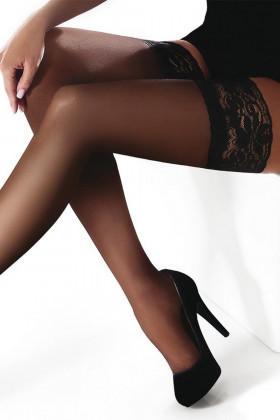 Чулки с ажурной резинкой Marilyn Erotic 15 den