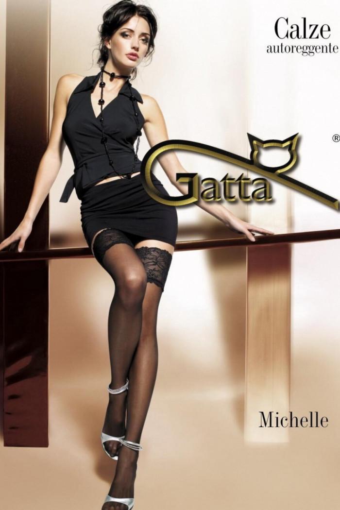 Панчохи на широкій резинці Gatta Michelle 03