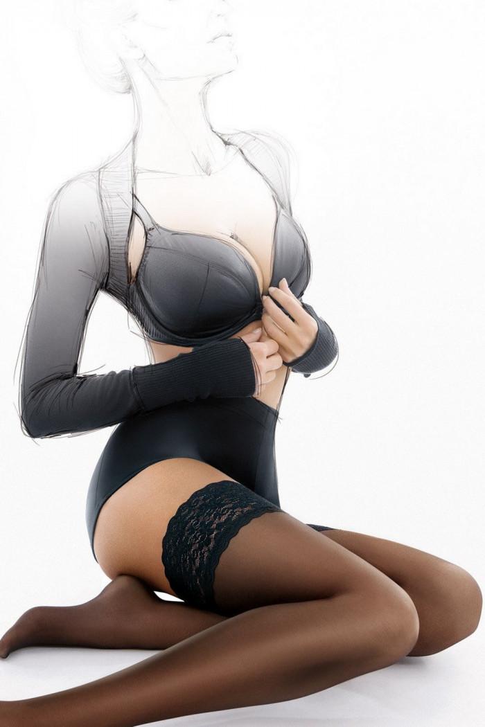 Чулки с кружевной коронкой Gatta Michelle 01 20d