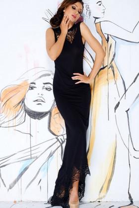 Фото Длинное платье с кружевными вставками Pigeon P-443
