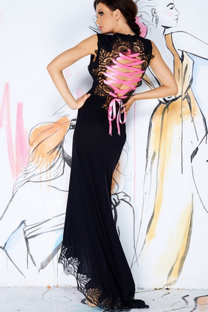 Фото Платье с кружевными вставками Pigeon P-443