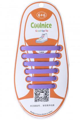 Фото Шнурки силиконовые для детей СOOLNICE