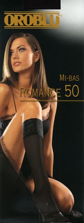 Гольфы с силиконовой каймой Oroblu Mi-Bas Romance 50