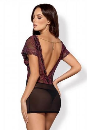Сорочка полупрозрачная Obsessive Sedusia chemise