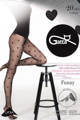 Колготки с сердечками GATTA FUNNY 08