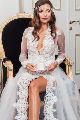 Фото Кружевное будуарное платье Pollardi F-212
