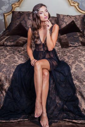 Будуарное платье Pollardi F-213 черное