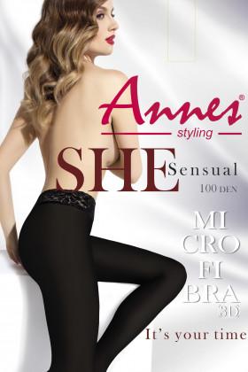 Колготки с кружевным поясом Annes Sensual 100