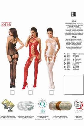 Комбинезон эротический Passion BS 056 red