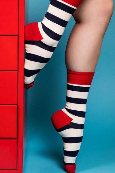 Фото Носки хлопковые с принтом Happy Socks STRIPE SOCK