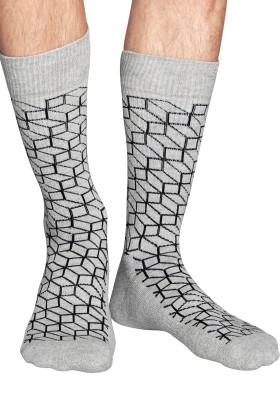 Фото Носки хлопковые с принтом Happy Socks OPTIC G