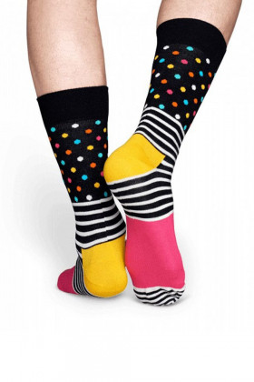 Носки хлопковые с принтом Happy Socks Stripes & Dots