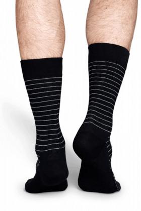 Фото Носки хлопковые с принтом Happy Socks Thin Stripes