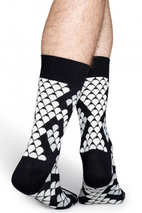 Носки хлопковые с принтом Happy Socks Snake