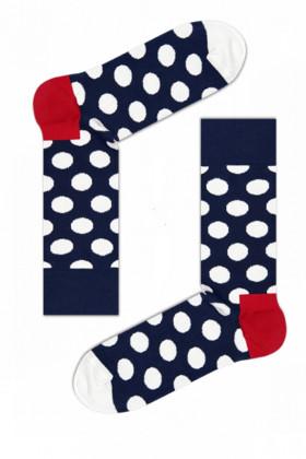 Носки хлопковые с принтом Happy Socks Big Dot BW