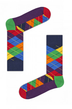 Носки хлопковые с принтом Happy Socks Argyle