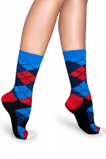 Фото Носки хлопковые с принтом Happy Socks Argyle B