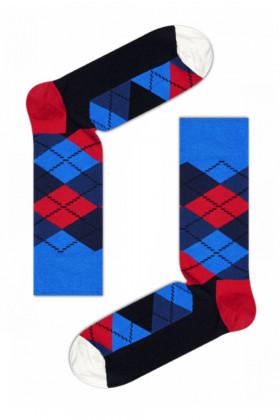 Носки хлопковые с принтом Happy Socks Argyle B