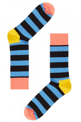 Носки хлопковые с принтом Happy Socks STRIPE SOCK B