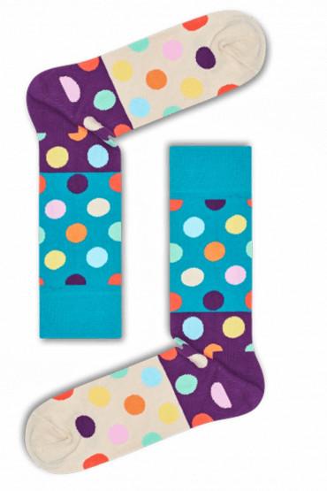 Фото Носки хлопковые с принтом Happy Socks BIG DOT BLOCK BDB01